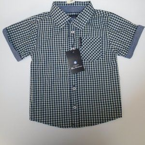 Ben Sherman Boys Short Sleeve Button Down Woven
